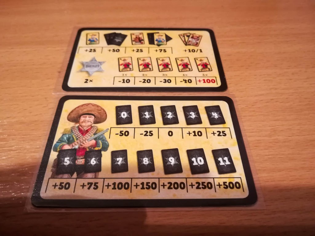Mexican Standoff scoring reference card