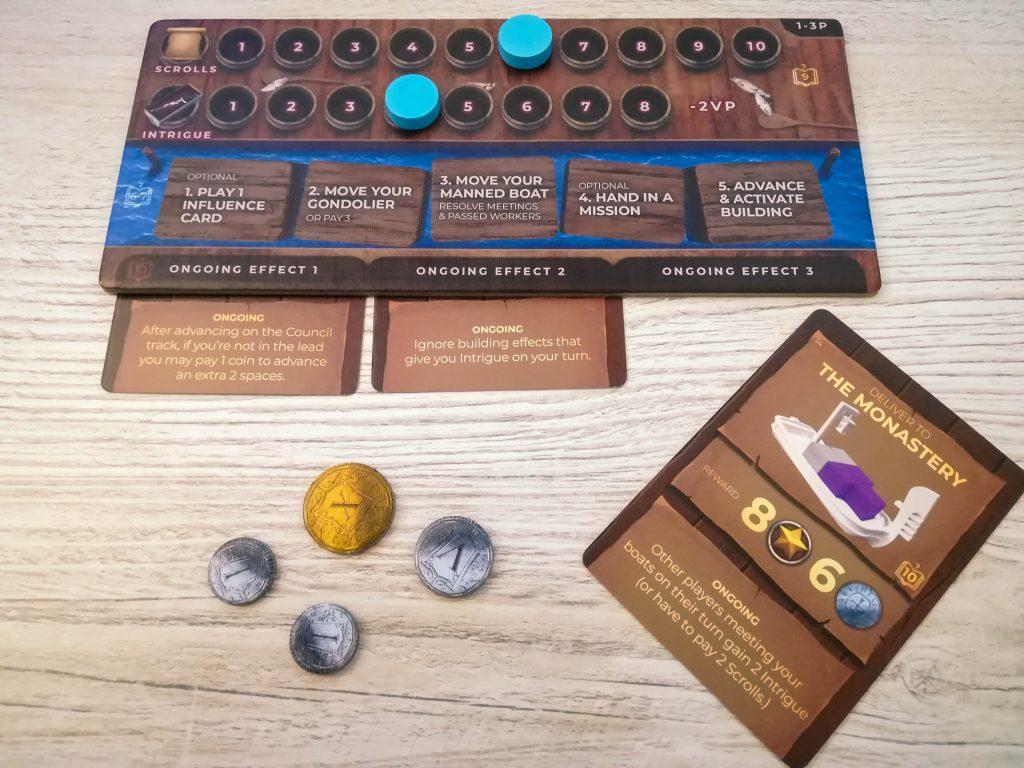 Venice player board