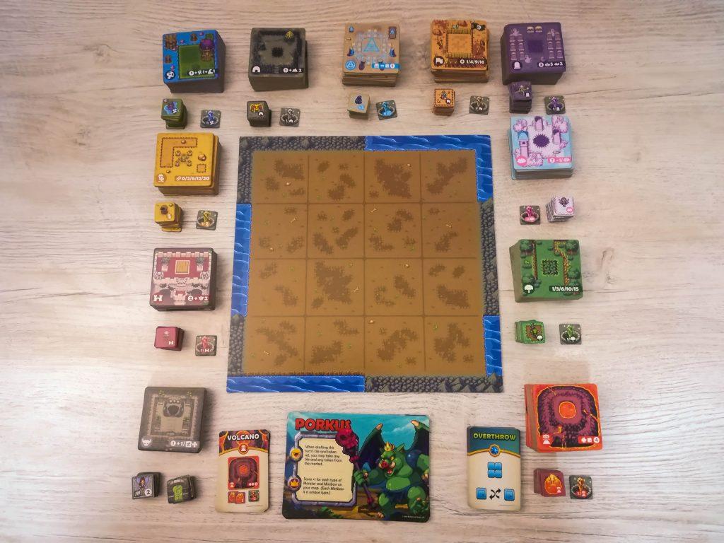 Overboss terrain tiles and monsters