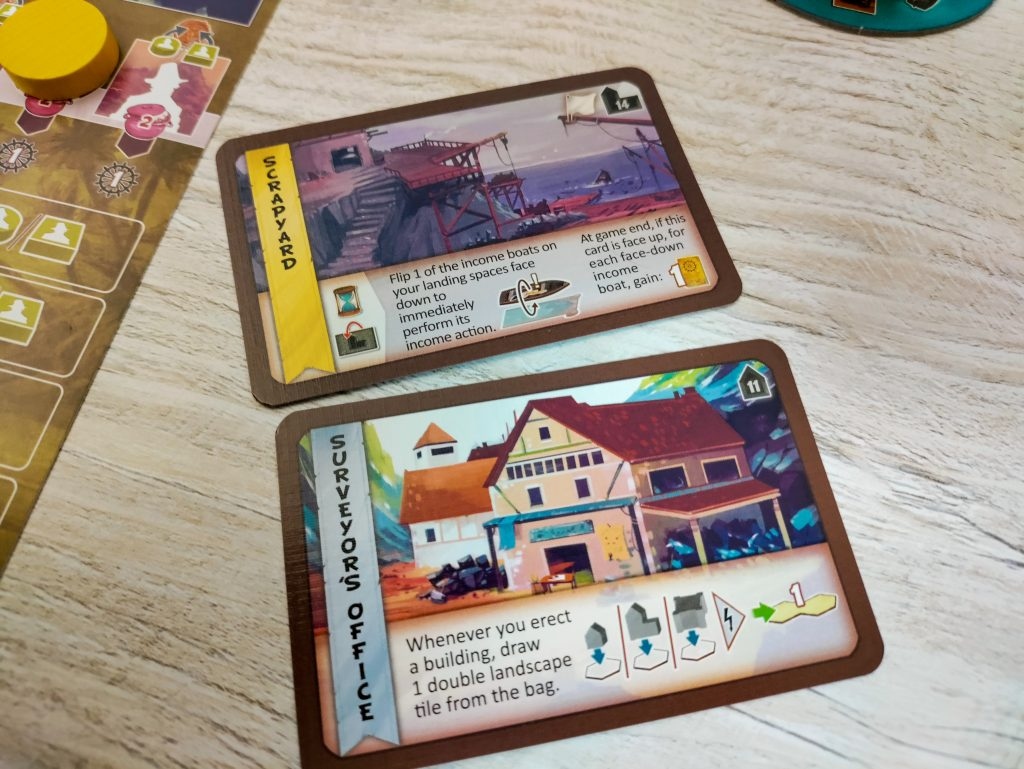 Cooper Island building cards